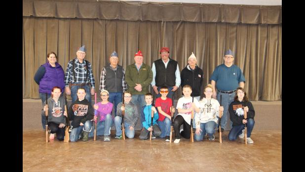 BB gun shooters, instructors and the team of Veterans from Forty and Eight.