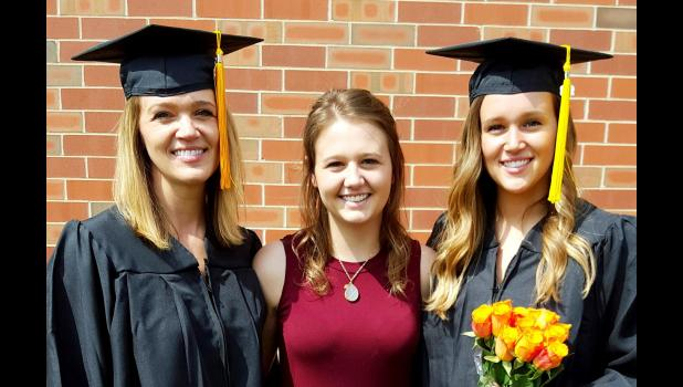 Edna, Katlin & Kianna Knutson are all graduates of SDSU this spring.