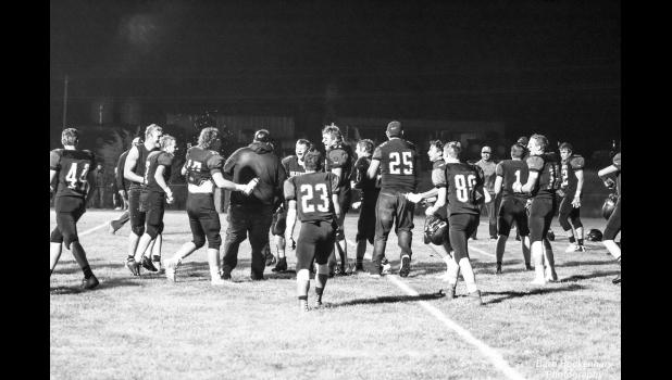 Wolverines celebrate their winning homecoming game against New Underwood, score 14-12, on Friday, September 18! More photos on pages 7 & 8.