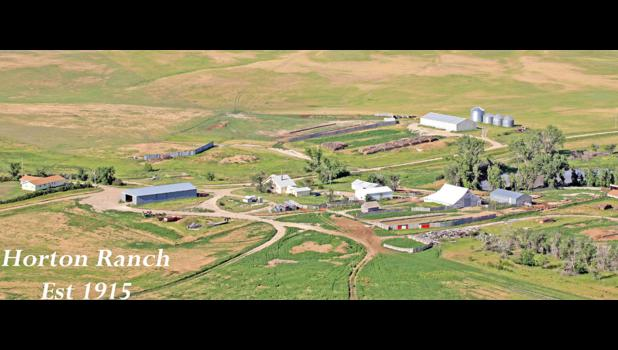An aerial view of the Horton Ranch.