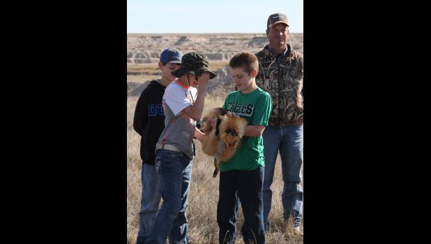 Every student interested in checking out fur types was more than encouraged to do so, as they learned all about wildlife from instructor Paul Roghair.