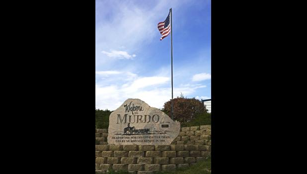 A great example of the chain effects of community support. The Murdo rock was paid by for a local citizen, the surrounding landscape is courtesy of the Murdo Area Chamber and the flag and pole are compliments of BankWest Insurance.