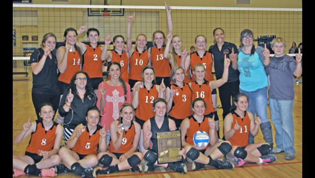 After defeating the Lyman Raiders, the Philip Lady Scotties volleyball team is number one in Region 7B.
