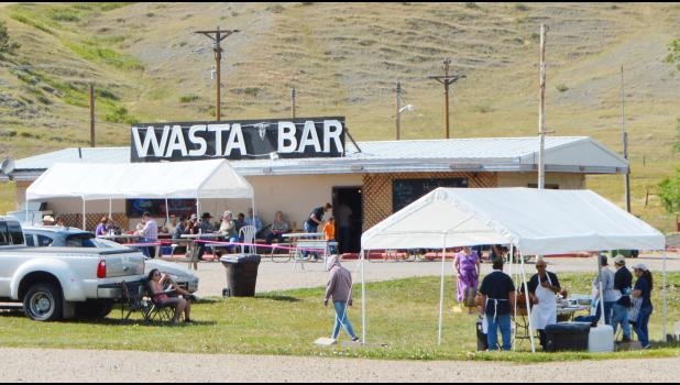 The Wasta Bar hosted an open house this past weekend. A whole barbecued pig was the entreé for the meal.