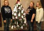 Shown are FCCLA members, from left, FCCLA chair person Elise Wheeler, Kelsey Hand and Anna Belle McIlravy.