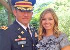 Explosive ordinance disposal officer, Major Nick Drury, and his wife, Heidi. He is one of only 10 selected to attend professional military education at the invitation of the Indian Army this year.